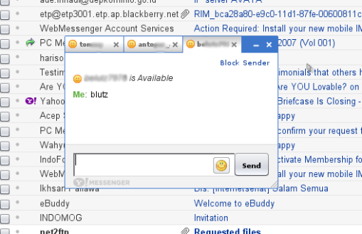 YahooMail Classic Screen Shoot 1