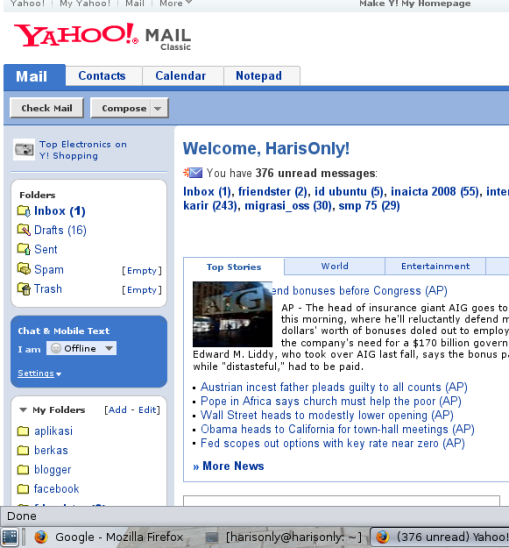 YahooMail Classic Screen Shoot 5