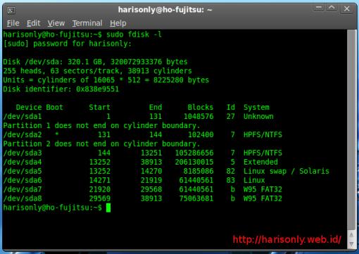 Linux Harddisk Partition